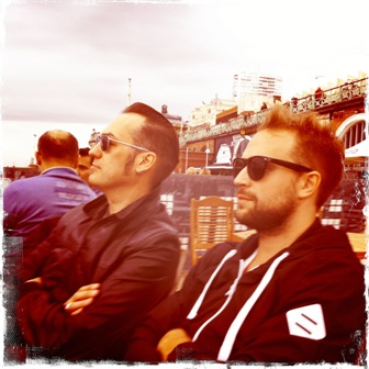 Rob & Rudi @ Brighton beach
